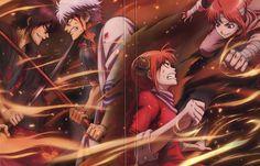 Gintama: Shinsuke, Gintoki, Kagura, and Kamui