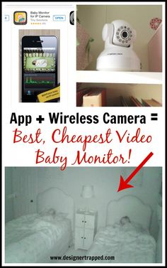 MUST PIN!  The BEST Video Baby Monitor Ever {and it's cheap}!  Full details by Designer Trapped in a Lawyer's Body.