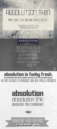 ABSOLUTION Thin. Display Fonts. $12.00