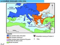 Sexta cruzada. Comenzó en 1228, tan sólo siete años después del fracaso de la Quinta Cruzada, y fue un nuevo intento de recuperar Jerusalén.