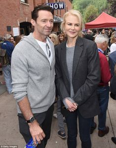 Stars align: The actress also posed with Hugh Jackman, who she co-starred with in the drama Australia in 2008 Hugh Michael Jackman, Hugh Jackman, Laughing Man Coffee, Hugh Wolverine, Telluride Film Festival, Jeffrey Dean, Old Actress, Hollywood Actor, Nicole Kidman