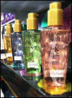 Kerastase Elixir Oils for dry, fine, coloured & damaged hair.