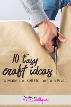 Here are ten easy craft ideas to make and sell in your online store and earn a fast profit.    #onlinestore #craft #sell