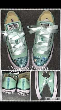 cheap for discount af300 4b87a Custom Sneakers, 40th Birthday, Tiffany Blue, Converse, 40 Birthday,  Converse Shoes