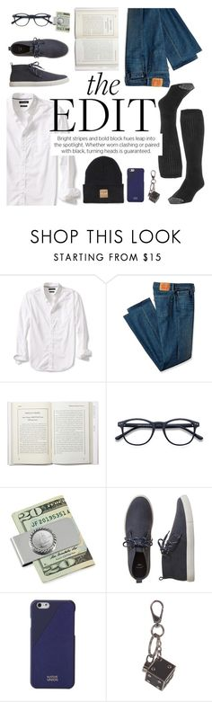 """""""the edit: men's edition"""" by punnky ❤ liked on Polyvore featuring Banana Republic, Levi's, American Coin Treasures, Gap, Native Union, Tod's, men's fashion and menswear"""