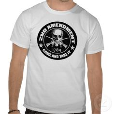 2nd Amendment Come And Take It Skull And ARs Tees