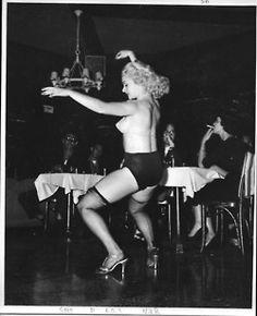 Rita Gable on Stage by Lenny Burtman - 1950s.