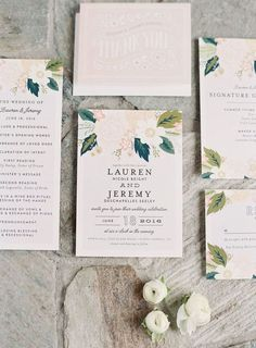 Beautiful wedding stationery