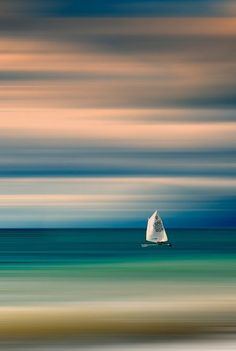 Sailboat by Vasilis Athanasopoulos Watercolor Landscape, Landscape Paintings, Landscape Photography, Nature Photography, Boat Art, Diy Canvas Art, Painting Techniques, Beautiful Landscapes, Painting Inspiration