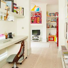 Home office and playroom