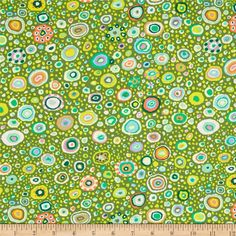 Kaffe Fasset Collective Roman Glass Leafy from @fabricdotcom  Designed by Kaffe Fassett for Rowan Fabrics, this cotton print is perfect for quilting, apparel and home decor accents.  Colors include white, lime, olive, spring green, tan, peach, coral, lavender, light blue and forest green.