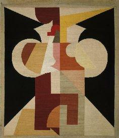 Hans Arp & Sophie Taeuber Arp, Symétrie pathétique, (1916-1917) Broderie sur coton, 76 x 65 cm