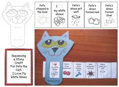 FREE Pete the Cat Story Slider will help students sequence and retell Pete the Cat's I Love My White Shoes story.