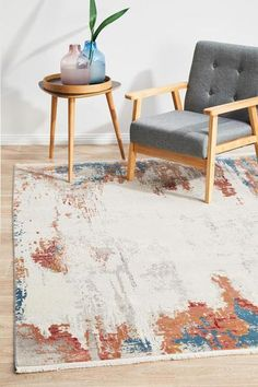 Relaxation Soothed Sunset Rug The Relaxation Sunset rug used the ingenious technology from Turkey and utilizing quality silk and acrylic materials to give a premium authentic finish. It features interloping figure scheming, faded patterning and a fusion of blue, orange and earthly tone, this wonderful piece of art will surely be a focal point to any setting. Material: Bamboo Silk & Acrylic Pile Height: 7mm Construction: Power Loomed Origin: Made in Turkey