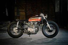Ruote Rugginose: Eric Meglasson's Honda CB450 Cafe.