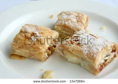 Fancy Pastry Desserts Stuffed With Nuts And Fruit.