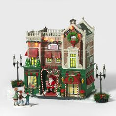 """Department 56: Products - """"Visiting Santa At Finestrom's"""""""