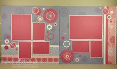 Flirtatious Scrapbook Pages 12x12 Stampin Up Spread