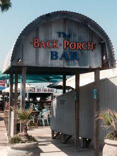 The Back Porch Bar | Port Aransas | Summer | Beach Trip | Pina Coladas