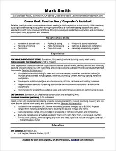 Carpenter Resume Sample ResumecompanionCom  Resume Samples
