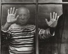 Robert Doisneau, Picasso Behind a Window, 1952