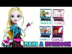 How to make a doll notebook or laptop computer - Doll crafts - YouTube