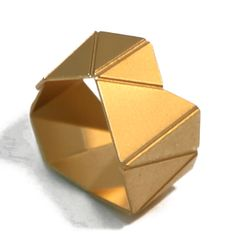 Gold Plated Origami Ring