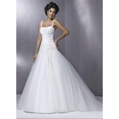 Princess A-line Applique Yarn Satin Corset Wedding Dress With Cape Sleeves