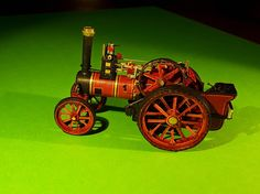 Burrell Devonshire Engine, made from paper, scale 1/87, foto 5.