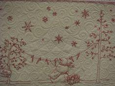 winter wonderland Carol's Quilt by lolablueocean, via Flickr
