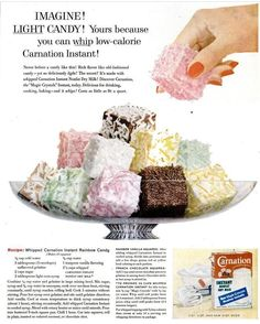Whipped Carnation Instant Rainbow Candy