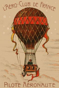 Hot-Air Balloon Aviation illustration on card for Vintage Transportation Theme, Ballon Godard Via Muirgil's Dream Ballon Illustration, How To Draw Balloons, Balloon Tattoo, Balloon Flights, Sand Bag, Vintage Drawing, Iphone 6 Plus Case, Vintage Travel Posters, Hot Air Balloon