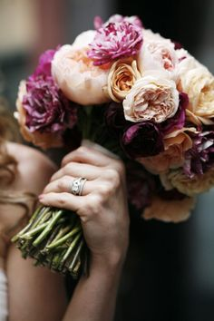 Sarah Joy Miller, flowers, wedding rings