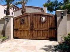 Spanish driveway gates