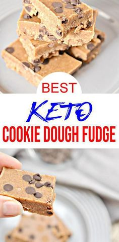 You can't go wrong with this keto cookie dough fudge! A simple, tasty and quick low carb recipe for the best chocolate chip fudge. Indulge in this easy keto… Cookie Dough Fudge, Chocolate Chip Cookie Dough, Fudge Recipes, Keto Recipes, Candy Recipes, Diabetic Recipes, Lunch Recipes, Breakfast Recipes, Keto Fudge