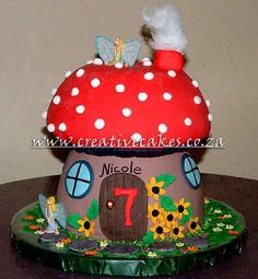 A Mushroom Fairy Cake is a super cake for a little girl or boy of all ages!