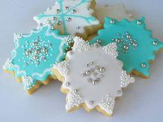 Snowflake Decorated Sugar Cookie | Snowflake Sugar Cookies 1 Dozen by acookiejar on Etsy
