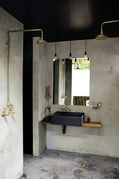 via (Stunning Concrete And Brass...