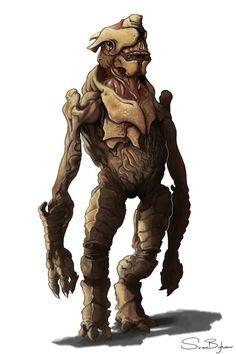 Armored alien by SBigham.deviantart.com on @DeviantArt