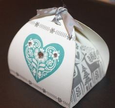 CUte Gift box using your Cricut and CTMH Scandinavian wishes October Stamps of the Month.
