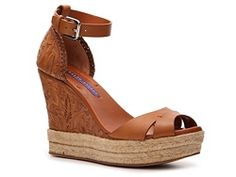 Ralph Lauren Collection Firita Leather Wedge Sandal