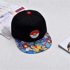 05fd151da66eb 2016 Hot cartoon Pokemon cap embroidered hip-hop wizard ball pokemon hat  baseball cap wholesale deus cap gorra