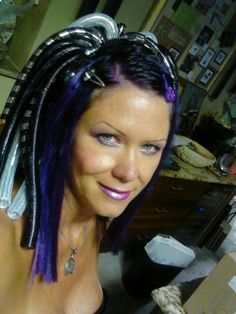 Ultra Violet... with my cyber dreads...