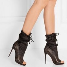 Model pic of CL booties See original listing Christian Louboutin Shoes
