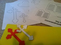 The printable patterns make your child's First Communion banner easy to make and a success.