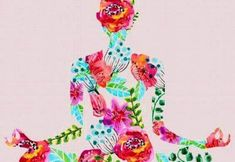 Illustration about Yoga pose, watercolor bright floral illustration over white background, lotus pose. Illustration of aquarelle, color, beautiful - 46683010 Tantra, Yoga Kunst, Lotus Pose, Lotus Position, Yoga Art, Floral Illustrations, Reiki, Yoga Fitness, Yoga Poses