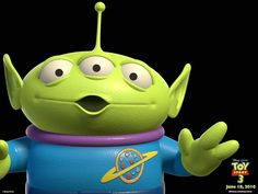 :) yes this is an alien XD alien from pizza planet! XD