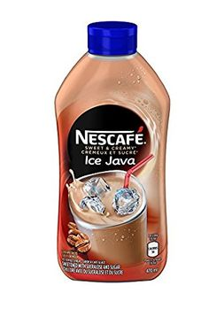 For a great tasting iced coffee just mix Nescafe Ice Java syrup with ice-cold fresh milk, or add ice and blend for a delicious coffee house-style drink. Hawaiian Shaved Ice, Iced Cappuccino, Coffee Candy, Iced Coffee At Home, Coffee Substitute, Cream Candy, Junk Food Snacks, Caramel Latte, Food Cakes