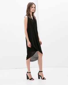 Zara Draped Neck Dress