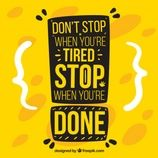 Motivation quote in yellow color Free Vector Web Design, Graphic Design, Calvin Clein, Sport Videos, Motivational Quotes, Inspirational Quotes, Dont Stop, Try Harder, How To Stay Motivated